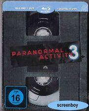 """""""PARANORMAL ACTIVITY 3"""" - Horror Kult Thriller - BLU RAY STEELBOOK - rar/OOP"""