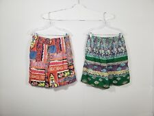 Set Of 2 Vintage STRUCTURE Shorts Men's Size Medium Super Colorful