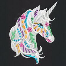 UNICORN BEAUTY SET OF 2 BATH HAND TOWELS EMBROIDERED BY LAURA
