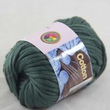 Sale 1BallX50g Chunky Cotton Hand Knitting Smooth Special Thick Yarn Dark Green