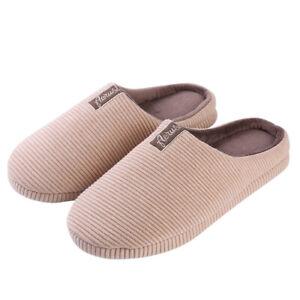 Aerusi Women Men Slip On Cozy Warm Cotton Plush Slippers Memory Foam House Shoes
