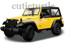 Maisto 2014 Jeep Wrangler Willys Edition 1:18 Diecast Model Car Yellow 31676