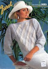 "~ Jarol Knitting Pattern For Lady's Boat Neck Dolman Sleeve Sweater ~ 26"" ~ 40"""