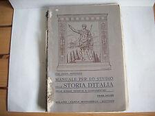 MANUALE DELLA STORIA D'ITALIA
