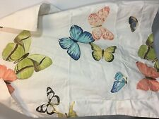 Pottery Barn Pillow Sham Butterfly White Cotton