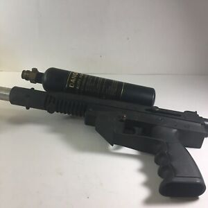 Brass Eagle Stingray paintball gun with canister