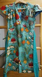 Living Dead Souls size S multicoured A- line dress / Frida Kahlo NWT