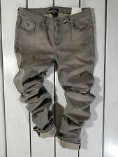 New Gant Men's Jeans W32 L34 Nelly Low Waist Regular Fit Narrow Leg Gray Denim