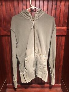 Original Penguin Men's Hooded Green Kangaroo Pocket Full Zip Hoodie Large XL