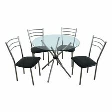 Glass Dining Tables Sets with 5 Pieces