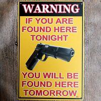Metal Tin Sign warning  Decor Bar Pub Home Vintage Retro Poster Cafe ART