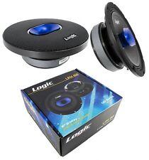 "2x 8"" Pro Car Audio Speaker Mid Range Compression Driver 4 Ohm 320W Logic LPH82"