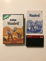 Wanted (Sega Master System, 1989) Complete in Case