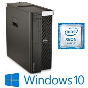 Dell Precision T7810 Dual 6 Core Intel E5-2620v3 64G 256G 1TB Quadro K4000 Win10