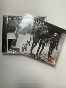 Queen Live Around The World - Signed CD Brian May, Roger Taylor And Adam Lambert