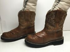 VTG WOMENS ARIAT FATBABY COWBOY BROWN BOOTS SIZE 7 B