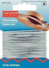 Prym - Cordoncino Elastico Gold Zack 1 5mm L. 3m Argento (f8h)