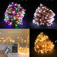 50 LED Fairy Lights String Copper Wire Lights Waterproof with Remote Control UK