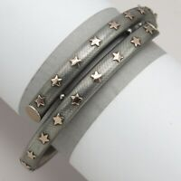 Antique Victorian 800 Silver Niello Rose Gold Star Bypass Bracelet