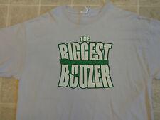 THE BIGGEST BOOZER Loser Parody T-SHIRT Men XL Beer Liquor Drunk Party Humor Bar