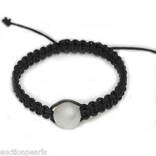 South Sea Pearl  Bracelet  Macrame / Shamballa Adjustable 14 mm