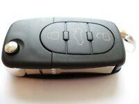 Audi A2 A3 A4 A6 A8 TT remote flip key fob new casing shell