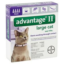 Advantage II large cat over 9 lbs 4 pack USA EPA approved product