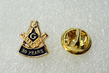 ZP466 Small Freemason Masonic lapel pin badge G Geometry Square Compass 50 years