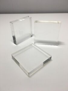 Acrylic Lightweight clear stamping block 10mm thick