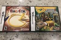 Bundle Of 2 Nintendo DS Games- Crayola Treasure Adventures & PAC-PIX