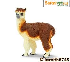 Safari Alpaca Juguete de plástico sólido Wild Zoo Animal De Granja Figura Modelo * Nuevo 💥