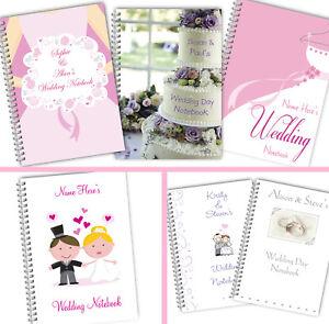 Personalised A5 Softbacked Wedding Notebook Style Wirebound Notepad