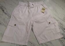 Lucky Brand Boys White Cotton Shorts Drawsting Cargo New NWT Size Large 10-12