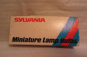 Boite De 8 SYLVANIA 193 GE193 Miniature Compensé Base Ampoule Lampes NOS