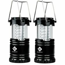 Etekcity 2 Pack Portable Outdoor Collapsible LED Camping Lantern 6AA Batteries