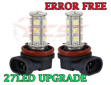 2x H11 H8 27W LED XENON WHITE FOG LIGHT ERROR FREE CANBUS FOGLIGHT BULBS UPGRADE