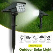 Solar Power 20-LED Spot Lights Outdoor Garden Security Pathway Lawn Wall Lamp US