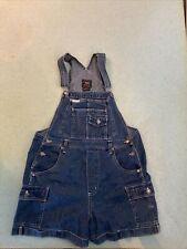 Vintage Route 66 Women's Overalls bib Shorts shortalls denim Blue jeans Size M