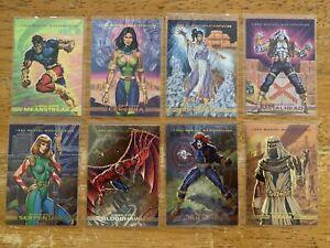 1993 MARVEL MASTERPIECES X-MEN 2099 DYNA ETCH FOIL SPECTRA 8 CARD INSERT SET