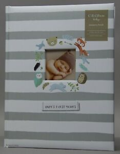 C.R. Gibson Woodland Baby's First Five Year Memory Keepsake Book NWT