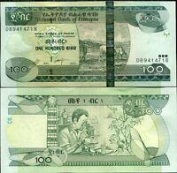 Ethiopia 100 Birr 2004 / 2012 P 52 UNC