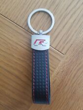VW R Line Leather Effect Keyring Chain Golf Tiguan Polo Passat Golf R R32 GTI