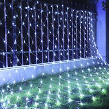 LED Lichtervorhang Lichternetz Kaltweiß Lichterkette Weihnachten 204LEDs 3x2M