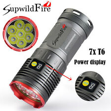 Supwildfire 35000LM XM-L T6 LED Flashligt Power Digital Display Hunting Torch UK