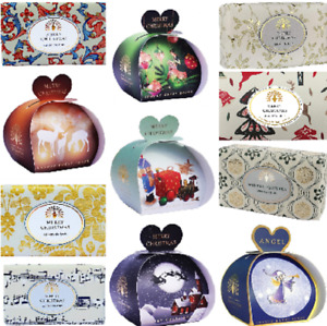 English Soap Company Christmas Soaps & Packs of Guest Heart Soaps Festive Scents