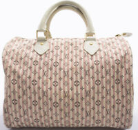 Louis Vuitton Monogram Mini Lin Speedy 30 Tasche Bag Zeitlos Boston Handtasche