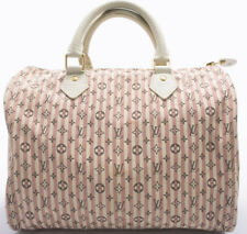 Louis Vuitton Monogram MINI Lin SPEEDY 30 Borsa Bag senza tempo Boston Borsetta