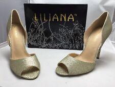 Liliana Shoes Size 10 T-top Zia-3B Gold NIB