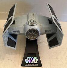 STAR WARS Darth Vader Tie-Fighter on stand Action Fleet 1995 VGC