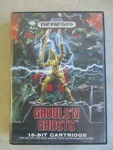 SEGA GENESIS GHOULS'N GHOSTS OFFICIAL GAME CASE AND MANUAL ONLY